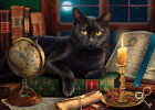 Black Cat By Candlelight Jigsaw Puzzle For Sale