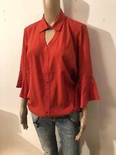 BRUNO BANANI - schöne Georgettbluse Bluse rot coralle Gr 48 XXL 611s