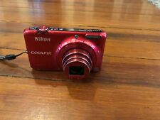 Nikon COOLPIX S6500 Wi-Fi Digital Camera with 12x Zoom (Red)
