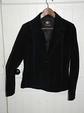 Ladies Paul Berman Black Suede Blazer / Jacket Size Large
