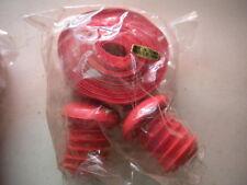 Red Handlebar tape with Handlebar plugs vintage bicycle