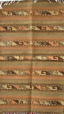"ZAPOTEC INDIAN AREA RUG SOUTHWEST   40""x22"" ZR24001 HAND WOVEN"