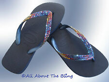 Crystal flip flops HAVAIANAS or Wedge with Swarovski crystals Meridian