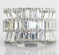 Bridal Wedding Ring - Size 6 Multi-Level Tower 6.85 Ct Cubic Zirconia Engagement