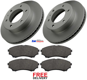 FOR FORD RANGER 2.5 3.0 TDCi 4x4 2006-2012 FRONT BRAKE DISCS & PADS SET NEW