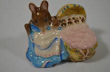 Royal Albert Hunca Munca Beatrix Potter Figurine EUC 1989 Made in England