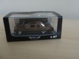 NEO MODELS 1/87 SCALE CADILLAC COUPE DE VILLE IN BROWN AND BOXED