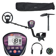 High Accuracy Metal Detector Adjustable w/ Waterproof Search Coil Headphone Bag