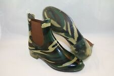 NEW Shoes of Soul - Sleek Rubber Elastic Rain Boots in Camo Brown, Size 5; $49