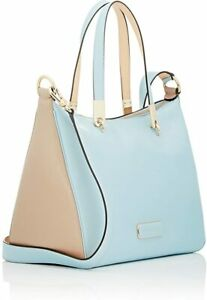 NWT - MARC BY MARC JACOBS Women's 'NINJA TOP HANDLE' Powder Blue LEATHER BAG