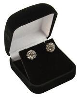 Luxury Velvet Earring Boxes for Studs or Small Drops- Black or Blue - (VV04)