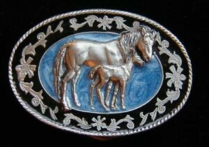 SMALL SIZE MARE AND COLT WESTERN STYLE BELT BUCKLE CHILDRENS NEW!