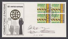 Archbishop Desmond Tutu, South African Civil Rights Leader, signed UN Racism FDC