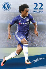 New WILLIAN Chelsea FC 16/17 SIGNATURE SERIES Football Soccer Action POSTER
