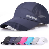 Unisex Solid Adjustable Hip-Hop Sport Baseball Mesh Hat Caps Snapback Golf Hats