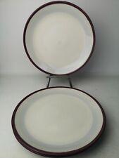 More details for set of 3  denby intro raspberry / purple large dinner plate 28cm diameter