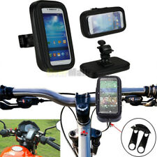 Motorcycle Bicycle Handlebar Holder Mount+Waterproof Bag Case For Cell Phone GPS
