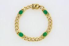 P.459-585er Gold armband mit Smaragd Lang 20,cm Breit 7,2 mm Gewicht 18,9 Gramm