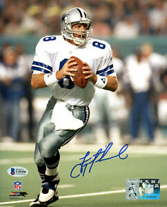 TROY AIKMAN AUTOGRAPHED SIGNED 8X10 PHOTO COWBOYS SIGNED IN BLUE BECKETT 177614