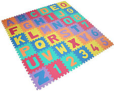 36pcs ALPHABET/NUMBER PLAY MAT BABY CHILDREN SOFT FOAM JIGSAW PUZZLE A-Z