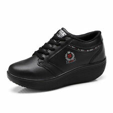 Women's Synthetic Leather Trainers without Pattern