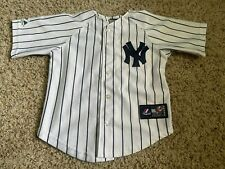 New York Yankees Majestic Sewn Pinstripes MLB Jersey Youth Boys 5-6