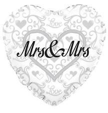 "WEDDING PARTY SUPPLIES 18"" MRS & MRS WEDDING COUPLE OAKTREE FOIL BALLOON"