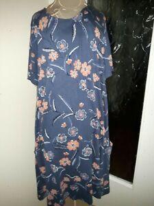 Fat Face Lovely Cotton Jersey Dress Size 16