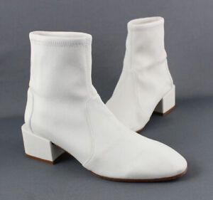 Stuart Weitzman Women's Ivory Leather Ankle Boot Shoe Size 8