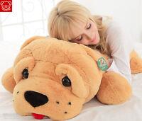 "New 35"" Giant Shar Pei Dog Stuffed Animal Plush Soft Doll Big Pillow Cushion Toy"