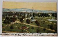 York Pa View of Penn Park 1906 York To Lansing Michigan Postcard I1