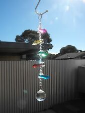 1 x suncatcher mobile lead crystal ball glass beads hanging chakra prism icicle