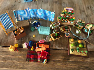 Sylvanian Families Gardening And Picnic Miscellaneous Items