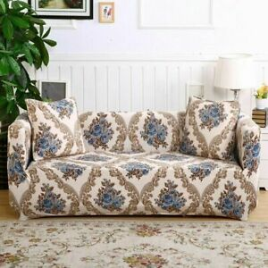 Floral Sofa Covers for Living Room ElasticStretch Sectional Corner1/2/3/4-seater