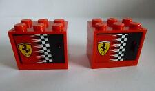 2 x LEGO® 4532 Schrank,Kasten,Briefkasten mit Tür/Klappe 2x2 gebraucht Ferrari