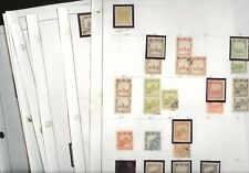 Manchukuo, Excellent assortment of Stamps hinged/mounted on pages