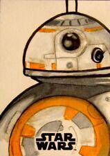 STAR WARS THE LAST JEDI BB-8  SKETCH BY KEVIN HAWKINS