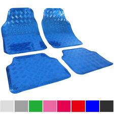 Auto Fußmatten Teppiche Alu Look Universal 4 teilige Automatten Blau 7109
