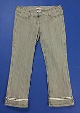 max co shorts pantalone corto bermuda rigati W26 tg 40 donna usato zip T1949