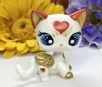 Littlest Pet Toy Shop Galaxy Crouching Cat  Kitty Hand Painted With Accesorios
