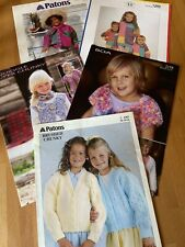 Job Lot Bundle 10 Children's  Knitting Patterns Long Sleeve Jumpers. Cardigans