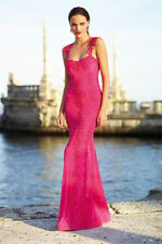 Alberto Makali Mesh & Lace Gown Midnight Size S Retail $649