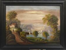 HUDSON RIVER SCHOOL, Late 19th Century, View of the Hudson,, Oil on c... Lot 542
