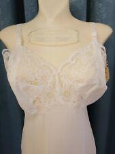 Vintage Lady Lynn Womens Full Slip  00004000 Sz 36 Lace White Lingerie Ilgwu Union Nwt