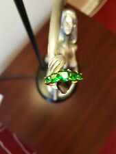 328CT EMERALD DIAMOND G/F RING.M-Q-S.FULLY STAMPED.UK