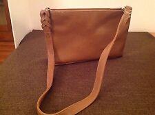 CHARTER CLUB Classic Camel Light Brown Tan Leather Medium Shoulder Handbag