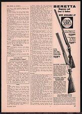 1958 BERETTA Silver Hawk & Snipe Magnum & Over Under Shotgun SEARS AD
