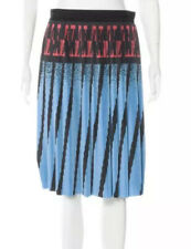 Alexander Wang Cerulean Greek Style Abstract Pleated Skirt Size 8