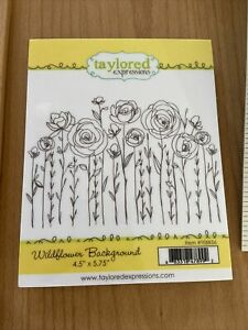 "Taylored Expressions WILDFLOWER BACKGROUND Cling Rubber Stamp 4.5""x5.75"" TEBB56"