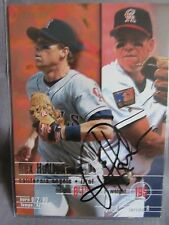 Rex Hudler California Angels Fleer 95 #226 Signed Baseball Card